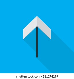 arow up flat icon illustration isolated vector sign symbol