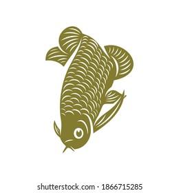 Arowana fish logo vector template, Creative Arowana fish logo design concepts, icon symbol, illustration