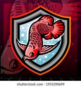 Arowana fish mascot. esport logo design