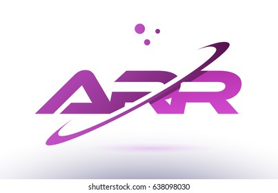 arr a r r  alphabet letter logo combination purple pink creative text dots company vector icon design template