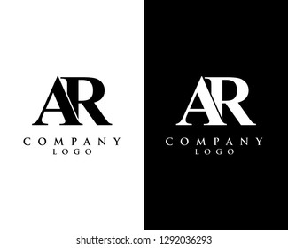 ar/ra modern initial logo design vector, with white and black color that can be used for any creative business.