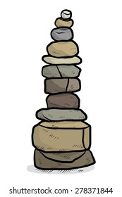 arranged stones / cartoon vector and illustration, hand drawn style, isolated on white background.