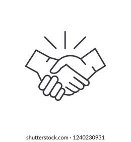 Arrangement line icon concept. Arrangement vector linear illustration, symbol, sign