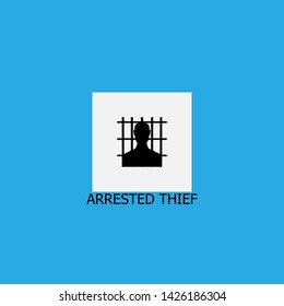 arrested thief icon sign signifier vector