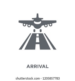 Arrival icon. Arrival design concept from Delivery and logistic collection. Simple element vector illustration on white background.