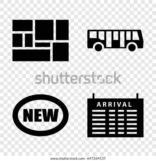 Arrival Icons Set Set 4 Arrival Stock Vector Royalty Free 647264137