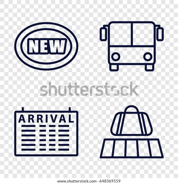 Arrival Icons Set Set 4 Arrival Stock Vector Royalty Free 648369559