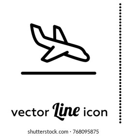 arrival vector icon