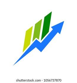 Arrow Bar Chart Company Logo Template