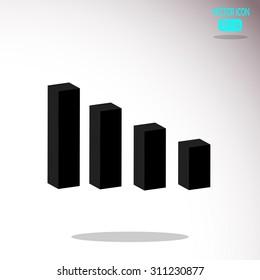 Arrow Bar Graph Vector Icon