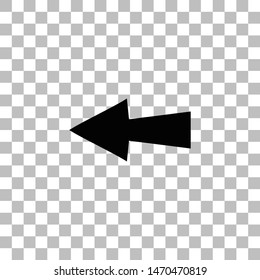 Arrow. Black flat icon on a transparent background. Pictogram for your project