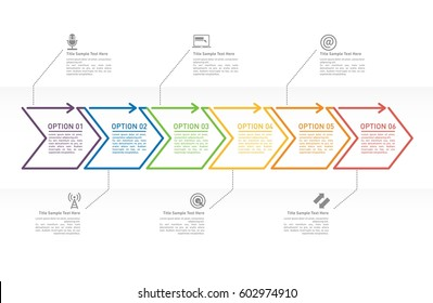 Flow chart images stock photos vectors shutterstock arrow business concept with 6 options or steps for infographic professional presentation template for diagrams accmission Choice Image