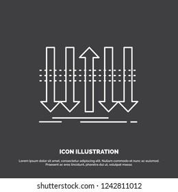 Arrow, business, distinction, forward, individuality Icon. Line vector symbol for UI and UX, website or mobile application