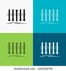 Arrow, business, distinction, forward, individuality Icon Over Various Background. glyph style design, designed for web and app. Eps 10 vector illustration