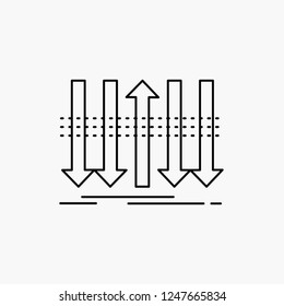 Arrow, business, distinction, forward, individuality Line Icon. Vector isolated illustration