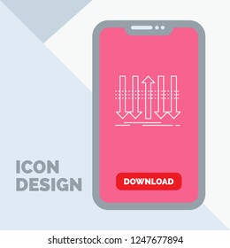Arrow, business, distinction, forward, individuality Line Icon in Mobile for Download Page