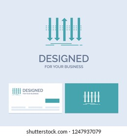 Arrow, business, distinction, forward, individuality Business Logo Glyph Icon Symbol for your business. Turquoise Business Cards with Brand logo template.