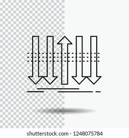 Arrow, business, distinction, forward, individuality Line Icon on Transparent Background. Black Icon Vector Illustration