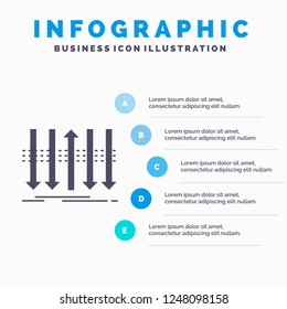 Arrow, business, distinction, forward, individuality Infographics Template for Website and Presentation. GLyph Gray icon with Blue infographic style vector illustration.