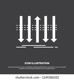 Arrow, business, distinction, forward, individuality Icon. glyph vector symbol for UI and UX, website or mobile application