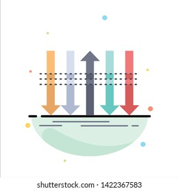 Arrow, business, distinction, forward, individuality Flat Color Icon Vector