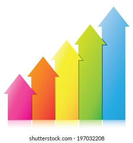 arrow chart, business chart