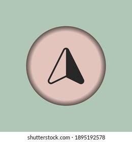 Arrow Compass icon, isolated Arrow Compass sign icon, vector illustration