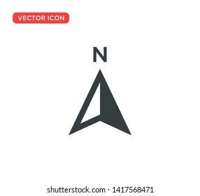 Arrow Compass Icon Vector Illustration Design