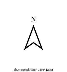 Arrow Compass Icon Vector Logo Template.