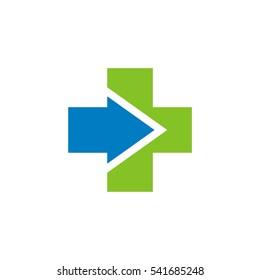 Arrow Cross Health Care Logo Template Illustration Design. Vector EPS 10.