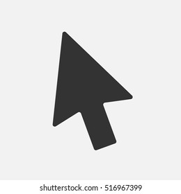 Arrow cursor, isolated pointer icon, vector illustration.