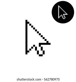 arrow cursor -  white vector icon