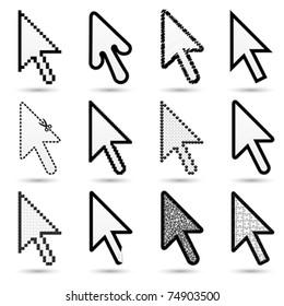 arrow cursors (hand cursors in my gallery)