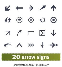 Arrow, direction signs: web vector set