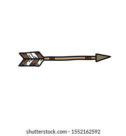 arrow doodle icon, vector illustration