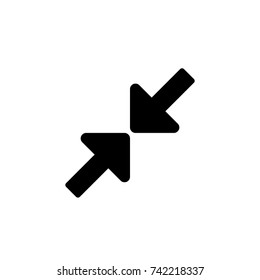 Arrow expand icon, Arrow expand icon vector, in trendy flat style isolated on white background. Arrow expand icon image, Arrow expand icon illustration