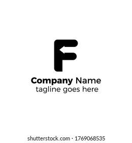 arrow f logo design vector illustration