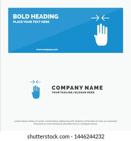 Arrow, Four Finger, Gesture, Pinch SOlid Icon Website Banner and Business Logo Template