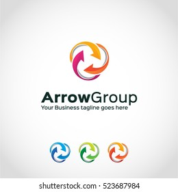 Arrow Group Logo Template...