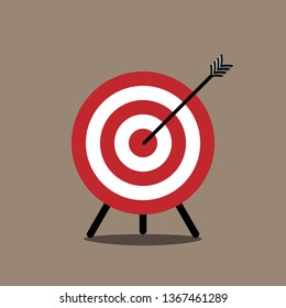 Arrow hitting target. Business concept Vector