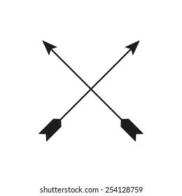 The arrow icon. Arrows symbol. Flat Vector illustration