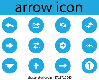 arrow icon black and white, arrow sign reload refresh rotation loop pictogram, Vector illustration web design elements, right arrow