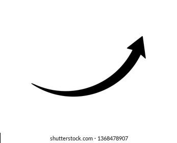 arrow icon flat black on white background, rounded corner, vector illustration