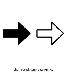 arrow icon.  line design. arrow set for web, site or application design