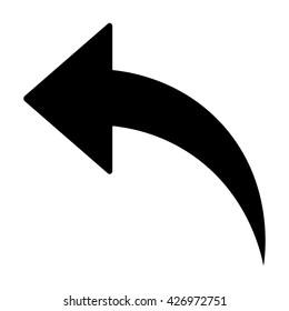 Arrow Icon, Arrow Icon pictogram, Arrow Icon Vector illustration, isolated backward arrow icon.