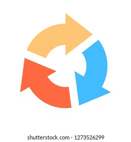 Arrow icon reload, refresh, rotation, repetition sign created in flat style. The design graphic element is saved as a vector illustration in the EPS file format.