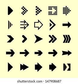 Arrow icon set. 25 elements.