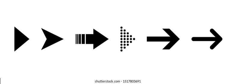 Arrow icon. Set of black isolated vector icon. Arrow. Vector arrows collection. EPS 10