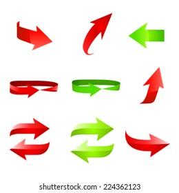 Arrow icon set. Vector illustration