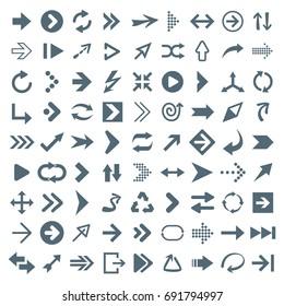 Arrow Icon Set - Vector Illustration